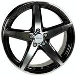 ACC Sport 5 Black Polished 66,6 17x7,5 5x112 Offset 35